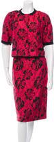Dolce & Gabbana Jacquard Skirt Suit