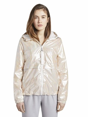 Tom Tailor Women's Holographic Windbreaker Jacket