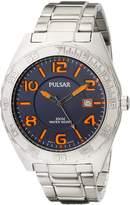 Pulsar Men's PS9313 Analog Display Japanese Quartz Silver Watch