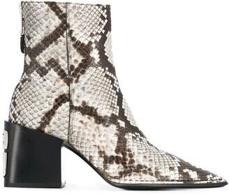 Alexander Wang animal print boots