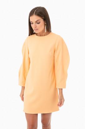 Tibi Chalky Drape Origami Sleeve Shift Dress