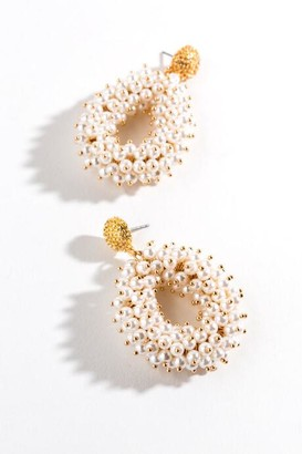 francesca's Ayla Chunky Pearl Teardrop Earrings - Pearl