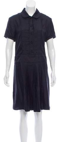 Rochas Pleated Silk Dress