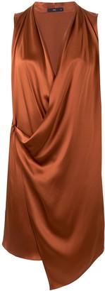 Voz Asymmetric Silk Mini Dress