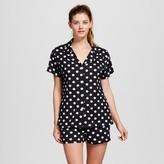 bride and beauties by BedHead Pajamas Bride & Beauties® by Bedhead Pajamas® Women's Notch Collar Classic Shorty Pajama Set - Polka Dot
