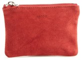 Baggu Women's Leather Zip Pouch - Red