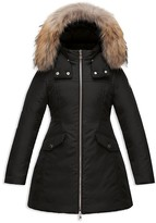 Moncler Girls' Obax Fitted Coat - Sizes 8-14