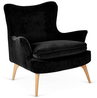 Kim Salmela Sonja Accent Chair - Black Velvet