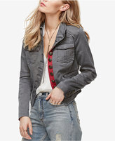 Free People Shrunken Officer Military Jacket