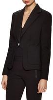 Diane von Furstenberg Flynn Split Buttoned Sleeve Blazer