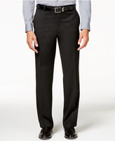 Alfani Men's Traveler Black Solid Classic-Fit Pants, Only at Macy's