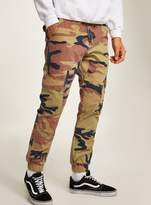 Topman Sand Camouflage Skinny Cargo Trousers
