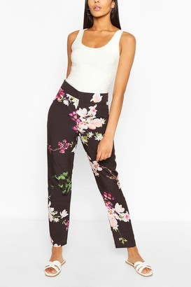 boohoo Tall Woven Floral Print Pants
