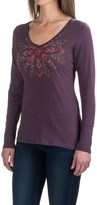 Columbia Cross-Stitch T-Shirt - Long Sleeve (For Women)