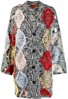 Missoni fringed-detail long cardigan