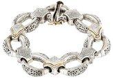 Konstantino Diamond Station Etched Bracelet