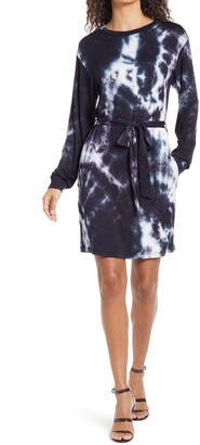 Fraiche by J Tie Dye Long Sleeve T-Shirt Dress