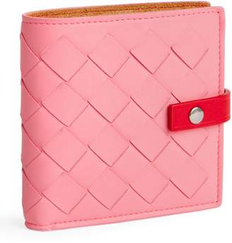 Bottega Veneta Leather Intrecciato Weave Wallet