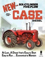 Diesel Poster Revolution Case 500 Tractor Retro Vintage Tin Sign - 13x16