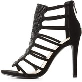 Charlotte Russe Embellished Caged Dress Sandals