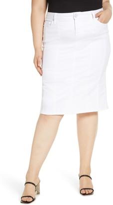 SLINK Jeans White Denim Pencil Skirt
