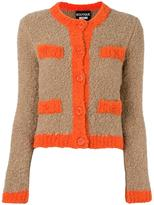 Moschino contrast trimmings cardigan