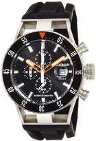 Locman watch Monte Cristo Diver Quartz Chronograph 100M Waterproof Men 0512 051200KOBKNKSIK Men's [regular imported goods]