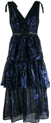Self-Portrait Self Portrait sequin embroidered dress