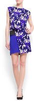 MANGO Contrast floral print dress