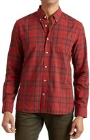 John Varvatos Red Rum Plaid Slim Fit Button-Down Shirt Button