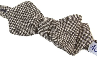40 Colori Brown Dotted Linen Spencer Bow Tie