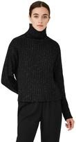 Frank & Oak Chunky Knit Mock Neck in Black