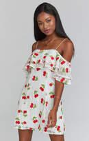 MUMU Rita Ruffle Dress ~ Very Cherry Lace