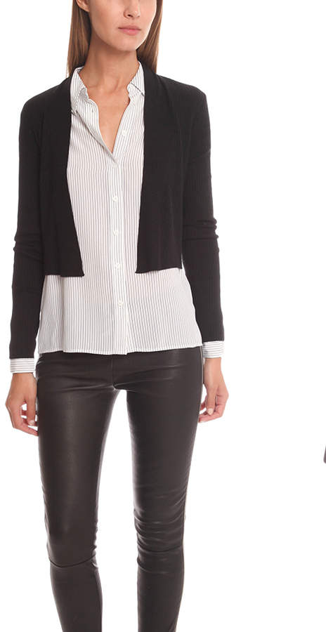 Vince Ribbed Open Cardigan
