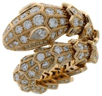 Bvlgari Rose Gold and Diamonds Serpenti Ring