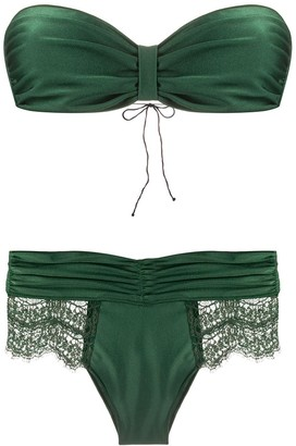 Oseree bandeau two-piece bikini set