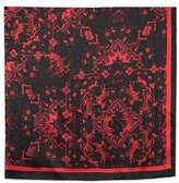 Oversized silky tiger print scarf