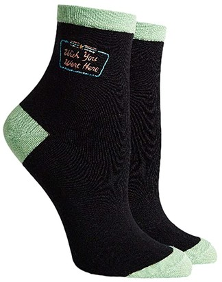 Richer Poorer Postcard (Stretch Limo) Women's Crew Cut Socks Shoes