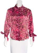 Just Cavalli Printed Button-Up Blouse