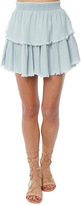 Generation Love Kimberly Double Layer Skirt With Raw Hem