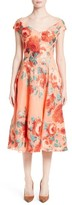 Lela Rose Women's Floral Fil Coupe Dress