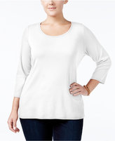 Charter Club Plus Size Pima Cotton Top, Only at Macy's