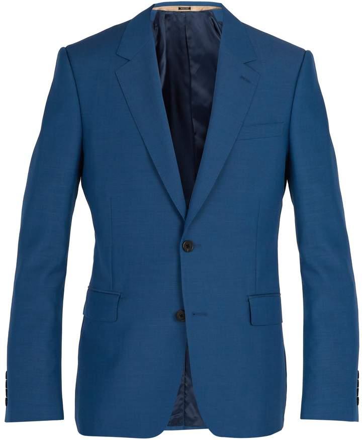 Alexander McQueen Single-breasted wool-blend blazer