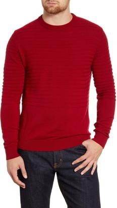 Bugatchi Textured Wool Blend Crew Neck Sweater