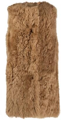 Yves Salomon Sleeveless Reversible Leather Coat
