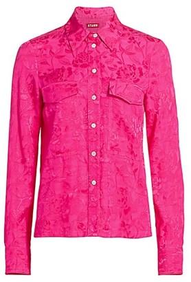 STAUD Alyssa Tonal Floral Shirt
