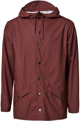 Rains Maroon Unisex Jacket Raincoat - XS/S