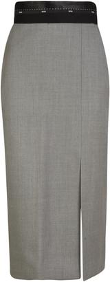 MSGM Fitted Waist Skirt