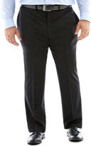 Claiborne Black Flat-Front Suit Pants - Big & Tall