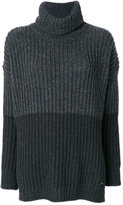 Woolrich contrast colour roll-neck sweater